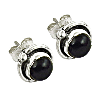 Most Fashionable Black Onyx Gemstone 925 Sterling Silver Earrings
