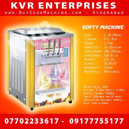Soft Ice Cream machine 2+1mix