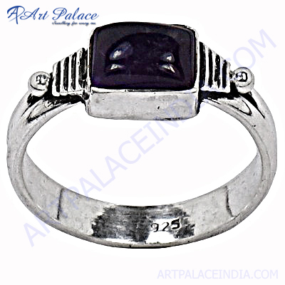 Excellent New Silver Amethyst Ring