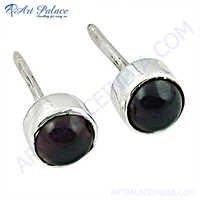 Newest 925 Sterling Silver Garnet Gemstone Earrings