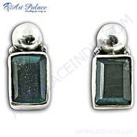 Royal Labradorite Gemstone Silver Earrings