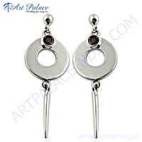 925 sterling Silver Earring Peridot Gemstone Silver Earrings