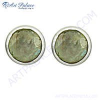 Exclusive Labardorite Gemstone Silver Earrings