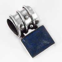 New Fashionable Lapis Gemstone SIlver Pendant