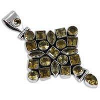 Charming Smokey Quartz Gemstone Silver Pendant