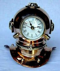 Antique Polish Diving Helmet With Clock