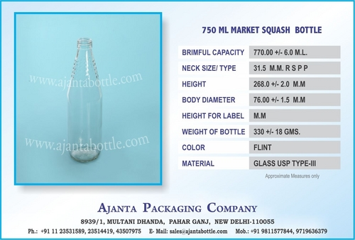 750 ML SQUASH GLASS BOTTLE