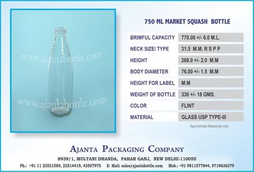 750 ML SQUASH GLASS BOTTLE