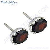 Hot Selling Jewelry Garnet Earrings,Stud Earrings