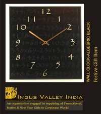 Wall Clock Algebric Black