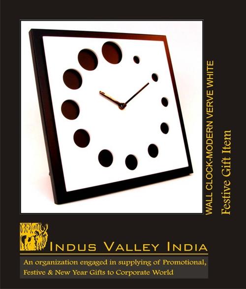 Wall Clock Modern Verve White