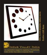 Wall Clock Modern Verve White