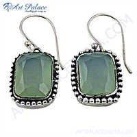 Sensational Chalce Gemstone Silver Earrings