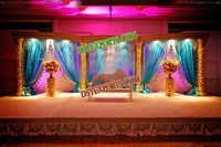 Hindu Wedding Golden Stage Set