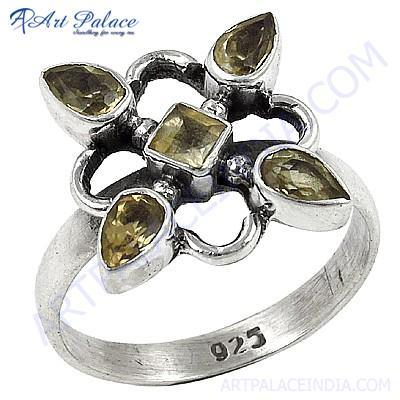 Latest Sterling Silver Citrine  Gemstone Rings