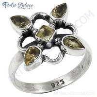 Latest Sterling Silver Citrine  Gemstone Rings