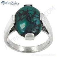 Sterling Silver Gemstone Ring With Turquoise