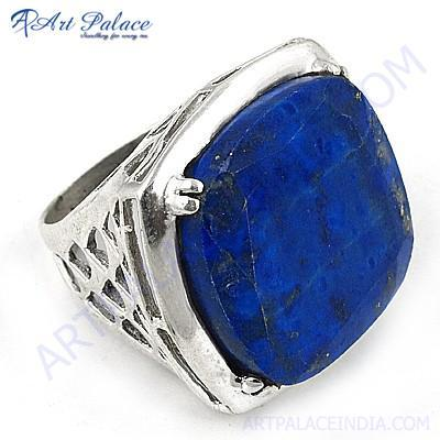 Fashion  Lapis Lazuli Gemstone Silver Ring