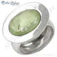 Newest Style Fashion Prenite Sterling Silver Gemstone Ring