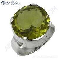 Newest Style Fashion Sterling Lemon Quartz Silver Gemstone Ring