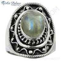 Lastest Luxury Labradorite Gemstone Silver Ring
