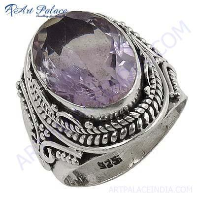 Lastest Luxury Amethyst Gemstone Silver Ring