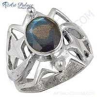 Newest Style Fashion Sterling Labradorite silver Gemstone Ring