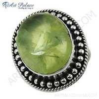 Antique Style Fashionable Prenite Gemstone silver
