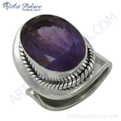 Lastest Luxury Amethyst Gemstone Silver Ring
