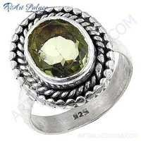 Latest Sterling Silver Gemstone Ring With Lemon Quartz