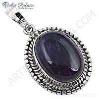 Latest Fashionable Amethyst Silver Gemstone Pendant