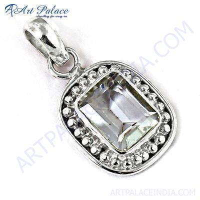 Crystal Bagutte  Sterling Silver Gemstone Pendant
