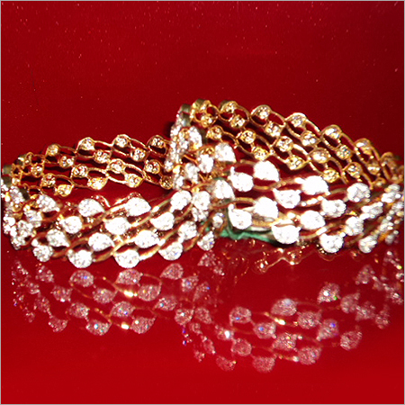 Fancy American Diamond Bangles