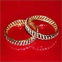 Gold Plated American Diamond Bangles