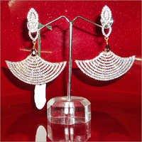 White American Diamond Earrings