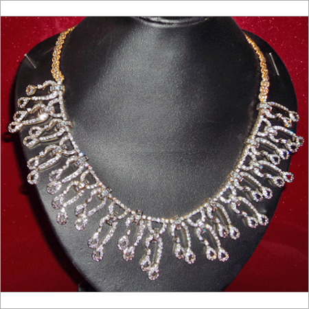 Latest American Diamond Necklace Sets