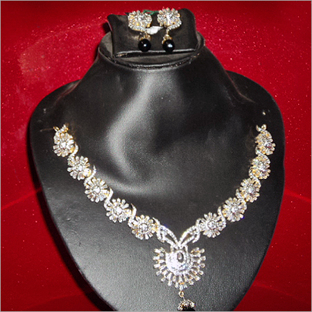 Elegant American Diamond Necklace Set