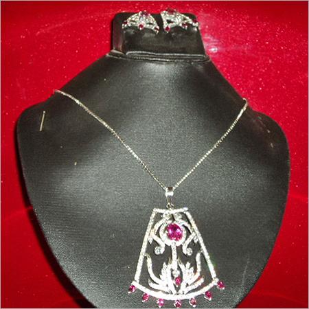 American Diamond Designer Pendant Set