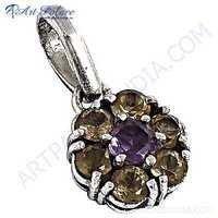 Top Quality Jewelry  Amethyst Citrine Gemstone Silver Pendant