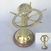 Nautical Brass Ship Wheel Compass