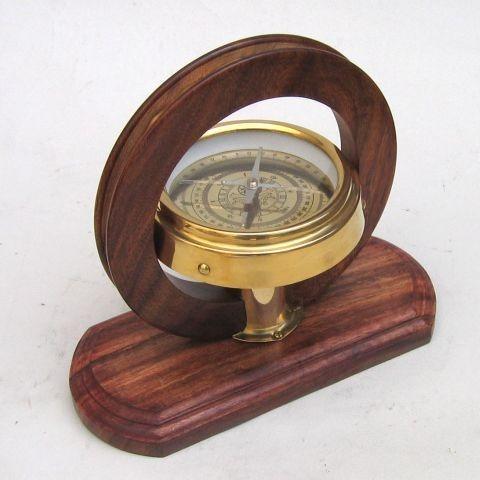 Decorative Brass Tangent Survey Compass