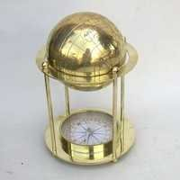 Nautical Brass Globe Compass