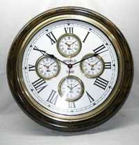 Wood & Metal World Timer Clock