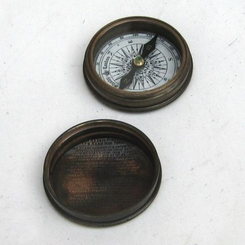 Nautical Brass Robert Frost Compass