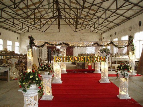 Wedding Crystal Fiber Pillars