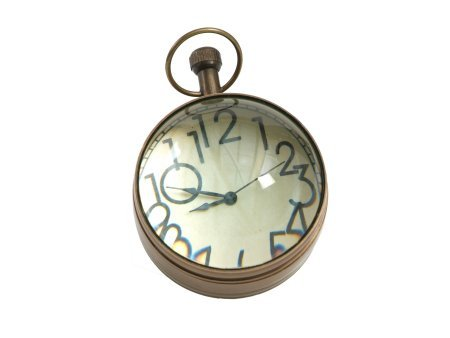 Enchanted Antique Look Brass Paper Weight Clock