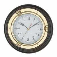 Brass Plated Porthole Marine Clock