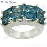 Preety Blue Topaz Silver Gemstone Ring
