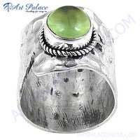 New Natural Prenite Gemstone Silver Ring With Lovely Style