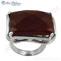 Newest Style Fashion Red Onyx Silver Gemstone Ring